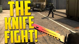 10 MAN KNIFE FIGHT! - CS GO Funny Moments in Competitive