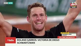 Roland Garros: Diego Schwartzman le ganó a Thiem y es semifinalista