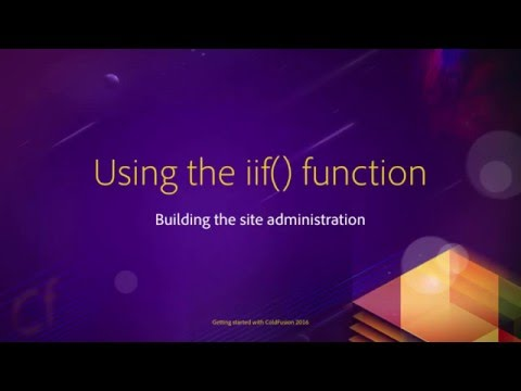 12 Building the site administration ## 06 Using the iif function