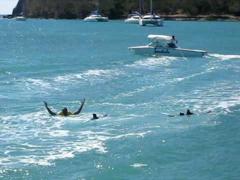 Waterskiing in St. Lucia