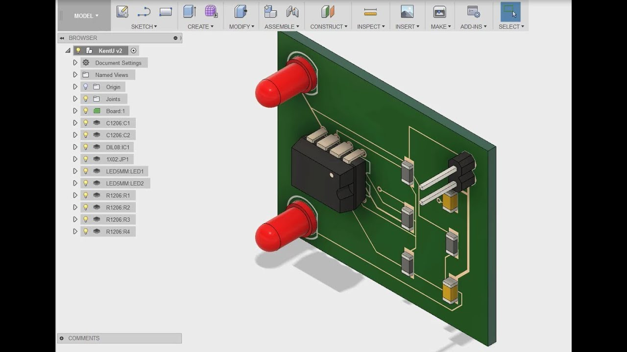 Modify Pcb Board Thickness Eagle To Fusion 360 Youtube Copper Circuit Boards Created Successfully By A 3d Printer Photos