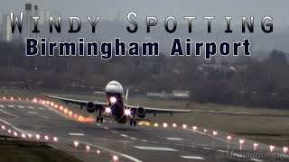 20 Movements in Gusty Conditions at Birmingham Airport - Windshear, Crosswinds -February 2014