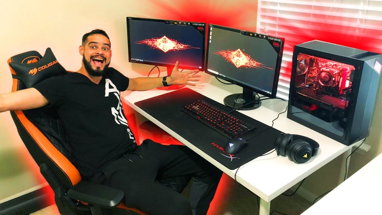 MONTEI UM PC GAMER DE R$12,000 NA CASA NOVA DO JON VLOGS  ‹ LinsJunior ›