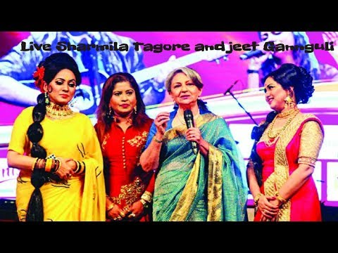 ATN Bangla Channel live Entertainment-Sharmila Tagore and jeet Gannguli