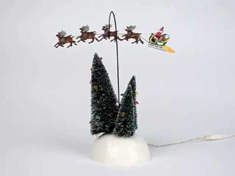 Department 56 - Animated Flaming Sleigh - Snow Village - National Lampoon's Christmas Vacation