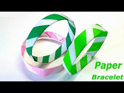 Paper Bracelet Making - Paper Bracelet for Girls - Bracelet Making Tutorial (2019)