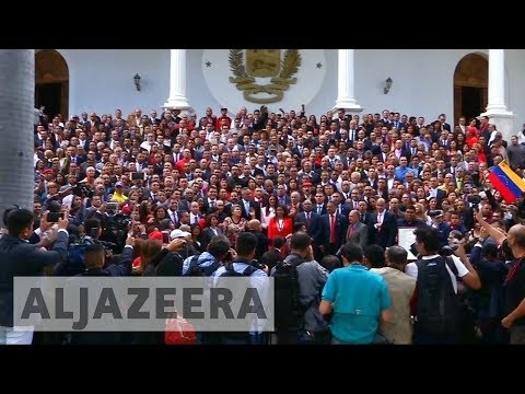 Maduro inaugurates contentious Venezuela assembly