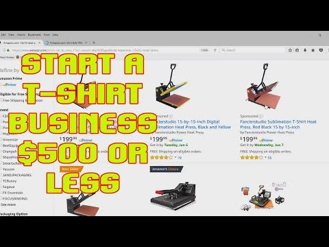 Start A T-shirt Business For $500 Or Less Cheapest  Equipment Packages I Found TshirtChick