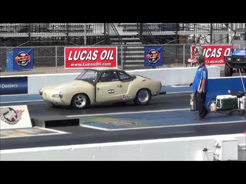 VW GHIA goes 110mph with engine problems BUGORAMA DRAG RACING