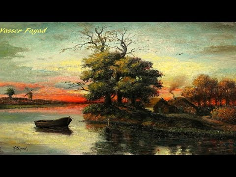 Classical oil painting landscape by Yasser Fayad