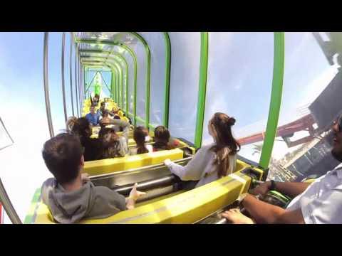 Man Screams on Santa Monica Pier Pacific Park Ride