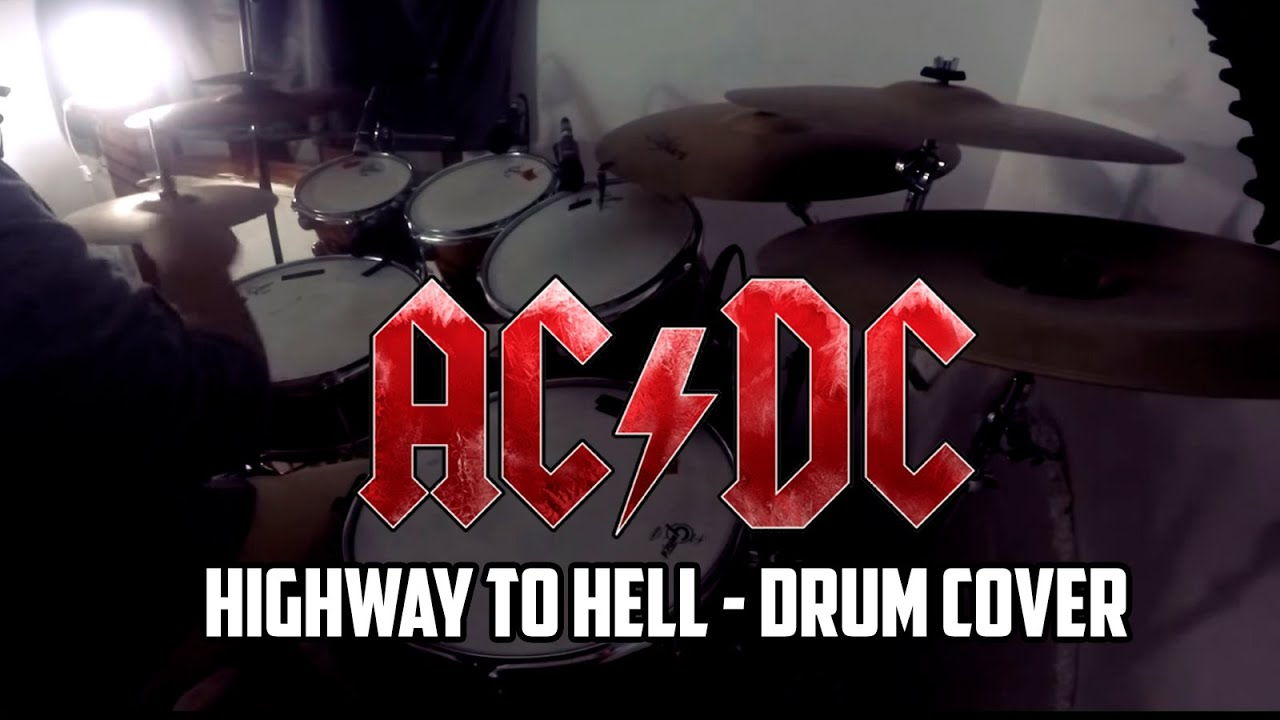 ac dc highway to hell drum cover by drummerfranc youtube. Black Bedroom Furniture Sets. Home Design Ideas