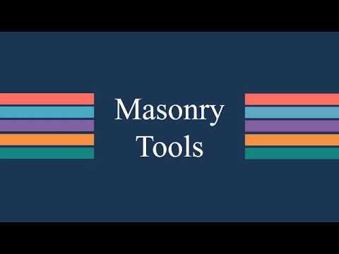 05.01 N  Masonry Tools