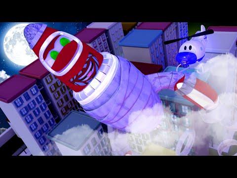 Rocky o FOGUETE é uma MÚMIA!  - Oficina de Pintura do Tom 🎨 Desenhos animados para crianças