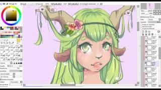 [SpeedPaint] Green fawn drawing #10
