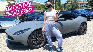 test driving boujee cars + trying glossier products!!