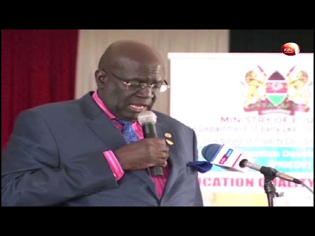 CS Magoha lashes out at KNUT for derailing implementation of the new Education Curriculum.