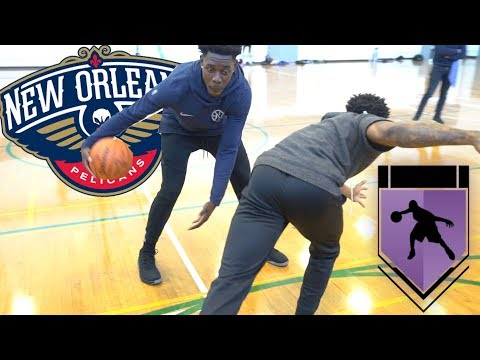 HE PUT AN ANKLE BREAKER CROSSOVER ON ME! 1vs1 NBA All-Star Jrue Holiday!