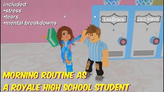 MORNING ROUTINE AS A REGULAR ROYALE HIGH SCHOOL STUDENT ( ROBLOX ROYALE HIGH