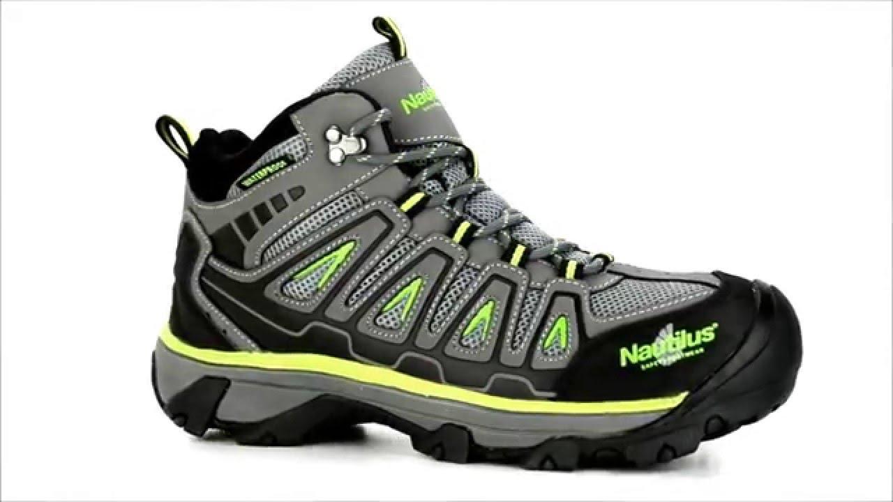 84084def579bae Men's Nautilus Steel Toe WP Work Boot N2202 @ Steel-Toe-shoes.com - YouTube