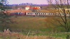 Reiskirchen: BR 216 mit Silberlingen auf der Vogelsbergbahn (Ostern 1988)