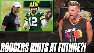 """Pat McAfee Reacts: Aaron Rodgers Says """"We'll See"""" On Return To Packers"""
