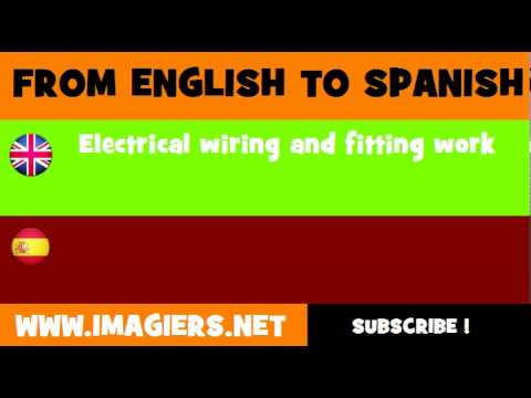 FROM ENGLISH TO SPANISH = Electrical wiring and ing work - YouTube on electrical repair, electrical contracting, electrical diagrams, electrical grounding, electrical cables, electrical tools, electrical equipment, electrical energy, electrical conduit, electrical shocks, electrical box, electrical fire, electrical engineering, electrical technology, electrical volt, electrical fuses, electrical circuits, electrical receptacle types, electrical cord, electrical wire,