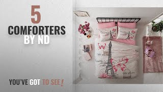 Top 10 Nd Comforters [2018]: Deconation 100% Cotton Comforter Set Single Twin Full Size Paris Pink