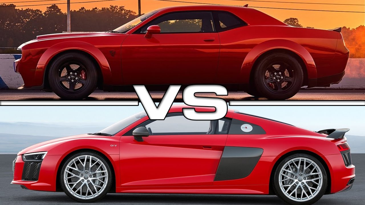 Audi Srt: 2018 Dodge Challenger SRT Demon Vs 2018 Audi R8 V10 Plus