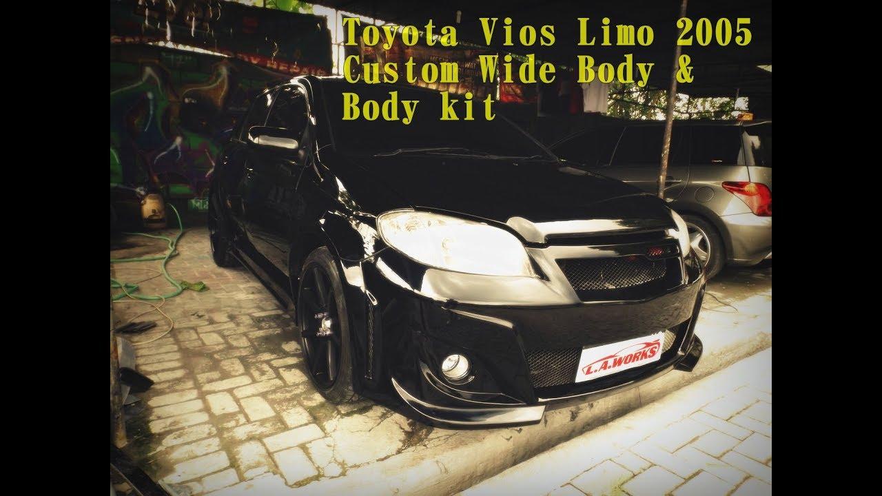 Toyota Vios Limo, Modifikasi Bodykit Dan Widebody