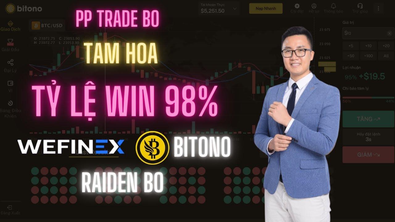 WEFINEX- BITONO- PP trade BO TAM HOA tỷ lệ win 98%