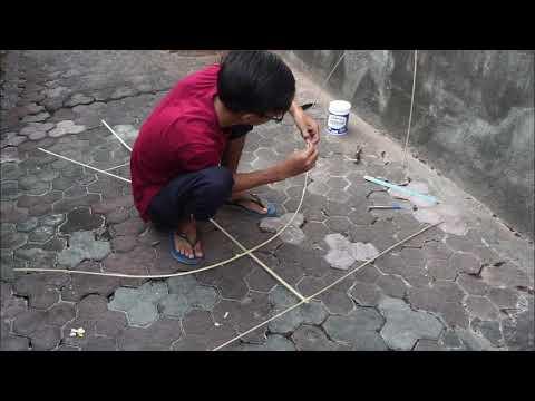 Membuat Layangan Celepuk Dan Tes Terbang - Layang Layang Bali