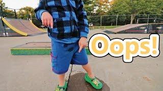 HE PEED ON THE SKATE PARK