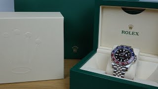 "4K Review: Rolex GMT Master II ""Pepsi"" 126710 BLRO Unboxing"