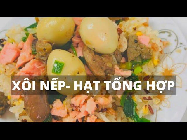 MẸ SOY nấu xôi gạo nếp và đậu tổng hợp