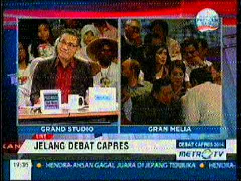 LIVE!!! suasana GRan melia Jakarta menjelang DEBAT CAPRES 2014