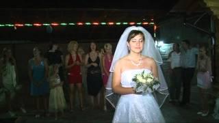 Свадьба Ангелины и Сергея БУКЕТ и ПОДВЯЗКА.mpg