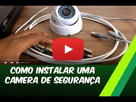 Curso CFTV 1 grátis  Como instalar uma câmera de segurança.