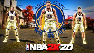 99 OVR STEPH CURRY, KLAY THOMPSON and DRAYMOND TAKEOVER THE PARK in NBA 2K20!! BEST BUILDS NBA 2K20