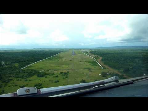 Brussels Airlines A330 cockpit landing Roberts Monrovia (dashcam)