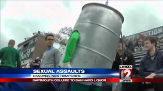 Dartmouth bans hard liquor, takes steps to prevent rape