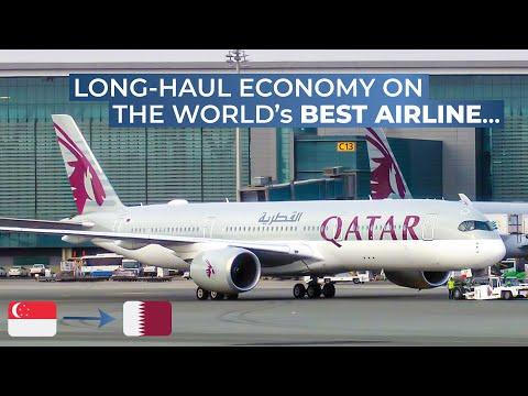 TRIPREPORT | Qatar Airways (ECONOMY) | Airbus A350-900XWB | Singapore - Doha