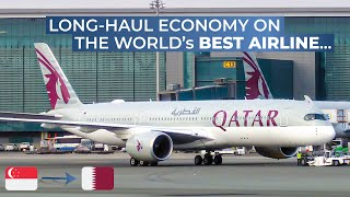 TRIPREPORT | Qatar Airways (ECONOMY) | Airbus A350-900XWB | Singapore - Doha