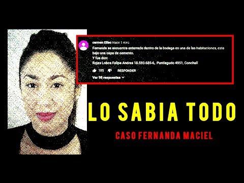 El Misterioso Comentario De Youtube/caso Fernanda Maciel
