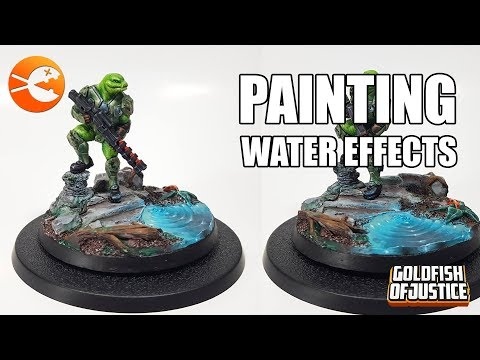 How to PAINT water effects on a solid resin base