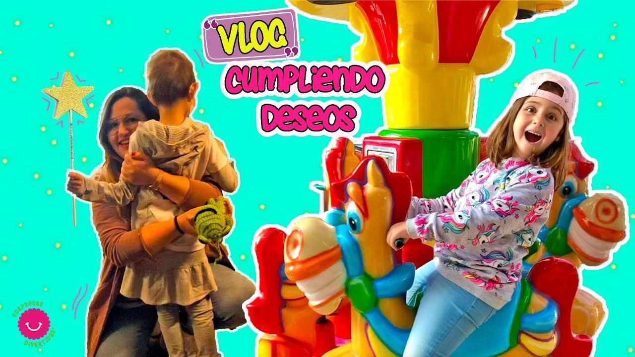 ⭐Cumplimos el deseo de Laia y Jugamos en un parque de toboganes gigantes - Vlog infantil