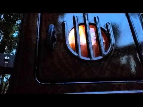 Antique Victor Kerosene Heater Test