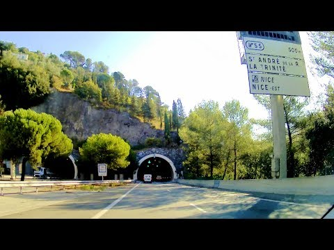 Route Nice Saint-Isidore to Parking des Pecheurs, Monaco-Ville via A8 highway (videoturysta.eu)