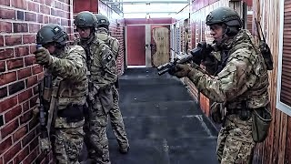 FBI SWAT Team Practices Clearing Rooms In The Shoot-House
