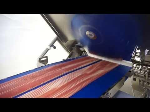 TEXTOR - TS700-UB  high-speed slicer for bulk pepperoni and bulk bacon slicing